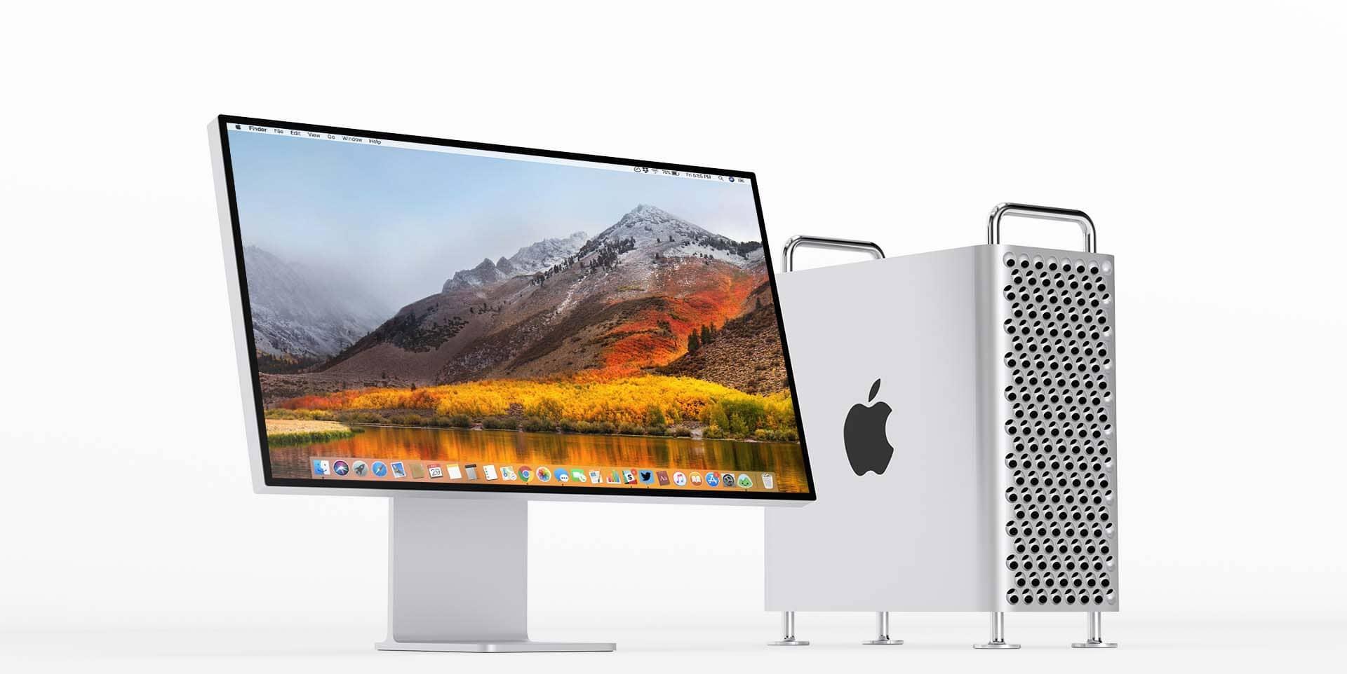Pro display XDR di Apple appoggiato su una scrivania di un ufficio