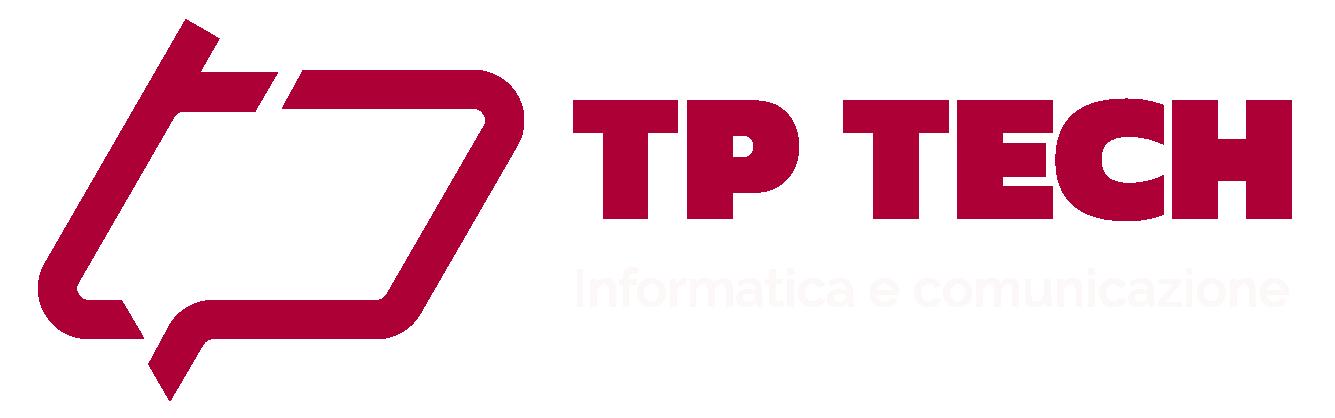 Logo di Tp Technology, il tuo partner informatico | versione bianca