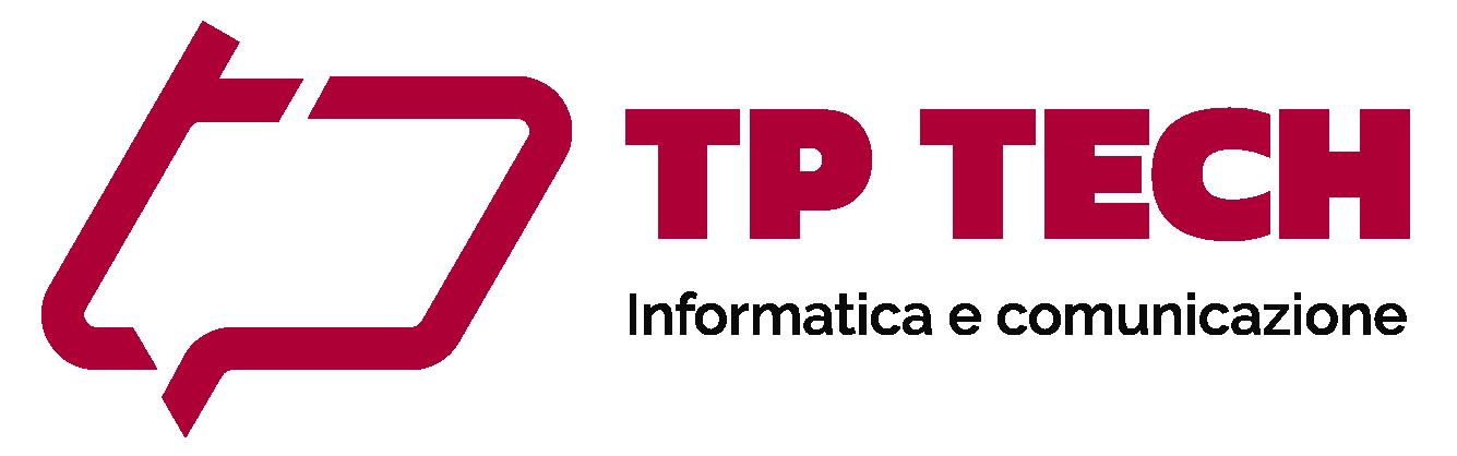 Logo di Tp Technology, il tuo partner informatico | versione nera