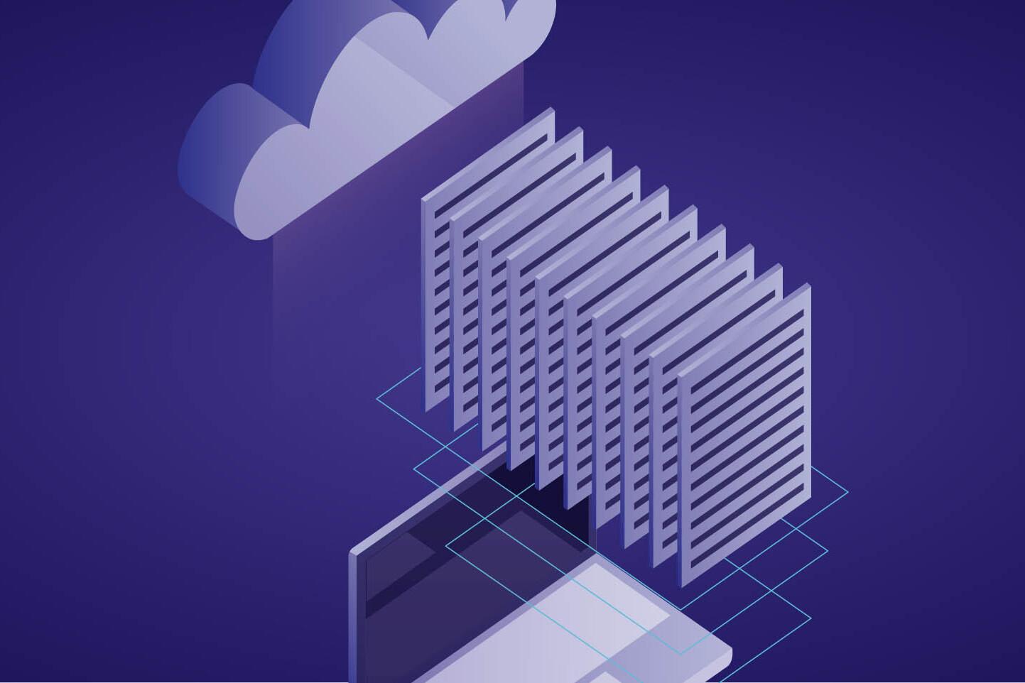 Dati del pc al sicuro caricati su un cloud privato