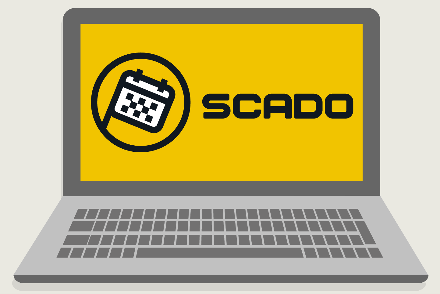 Pc con la webapp Scado, il gestionale pensato per le piccole e medie imprese